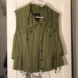 Bebe. Olive green vest